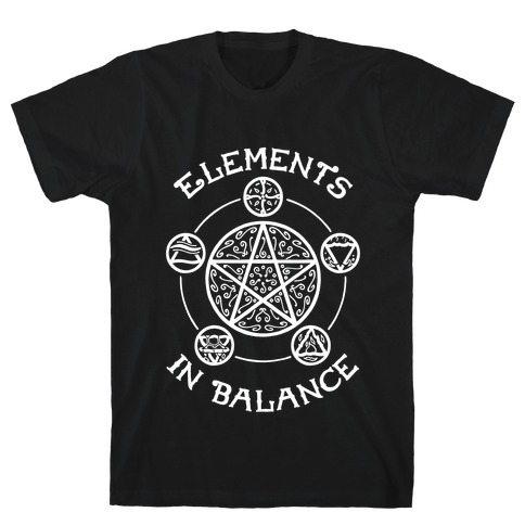 Witch's Elements In Balance Mens/Unisex T-Shirt