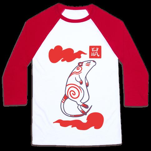 Rat - Chinese Zodiac Baseball Tee
