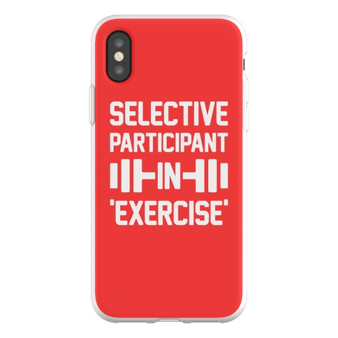 Selective Participant In Exercise Phone Flexi-Case