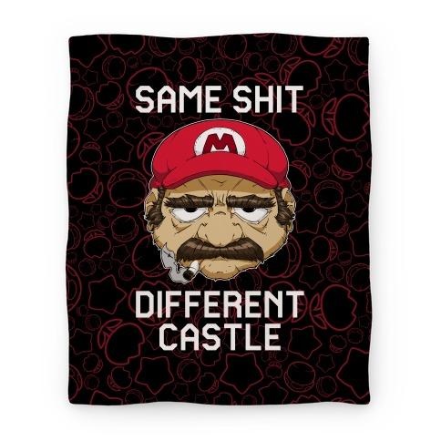 Same Shit Different Castle Blanket