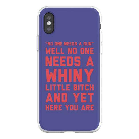 No One Needs A Gun Phone Flexi-Case
