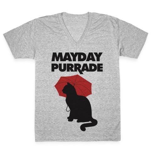 Mayday Purrade V-Neck Tee Shirt