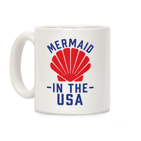 Mermaid In The USA Coffee Mug