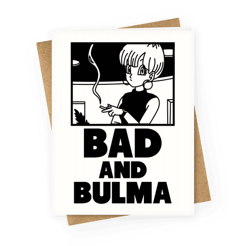 Bad And Bulma Greeting Card