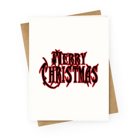 Merry (Metal) Christmas Greeting Card