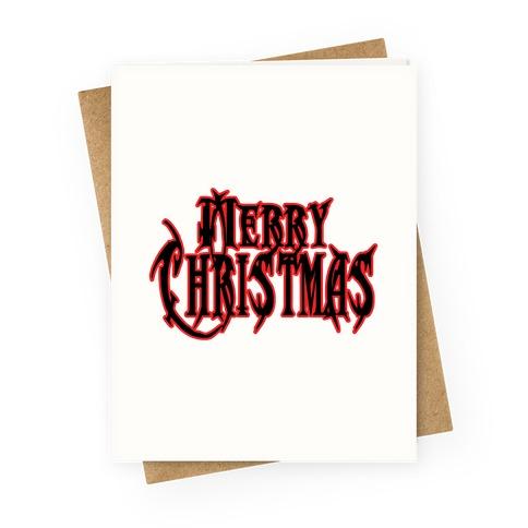 Merry (Metal) Christmas Greeting Card