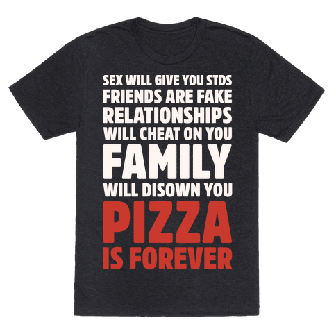 Pizza Is Forever White Print