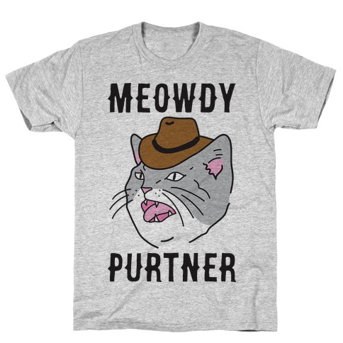 Meowdy Purtner Cowboy Cat T-Shirt