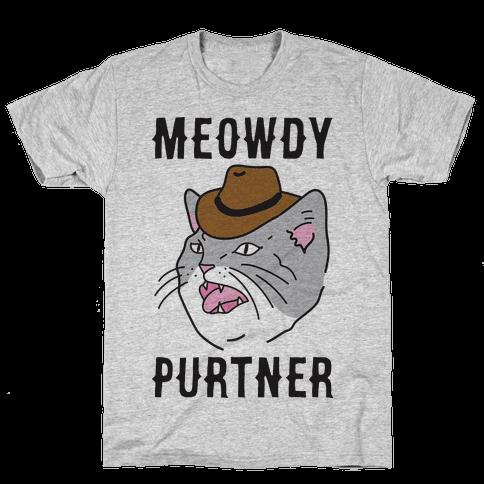 Meowdy Purtner Cowboy Cat Mens/Unisex T-Shirt