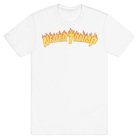 Never Trump Thrasher Logo Parody T-Shirt