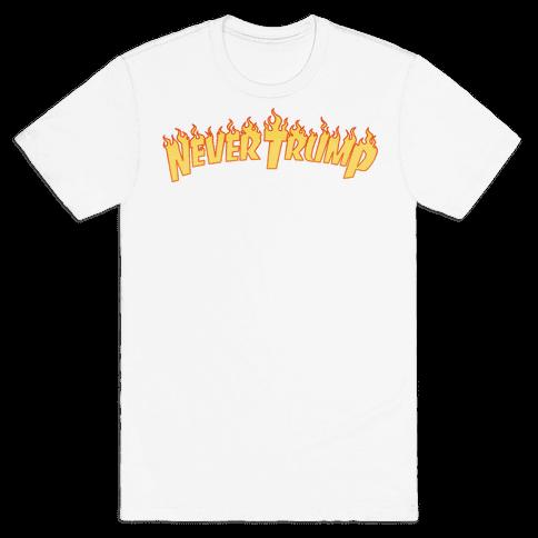 Never Trump Thrasher Logo Parody  Mens T-Shirt
