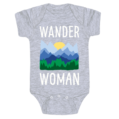 Wander Woman Baby Onesy