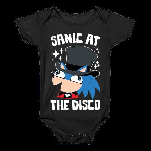 Sanic At The Disco Baby Onesy