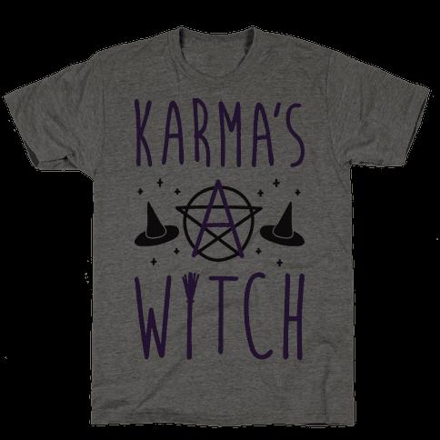 Karma's A Witch Mens T-Shirt
