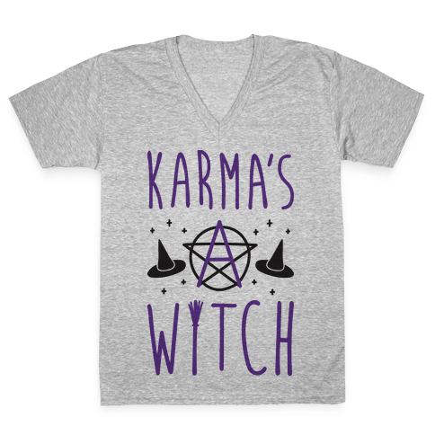 Karma's A Witch V-Neck Tee Shirt