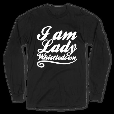 I Am Lady Whistledown Parody White Print Long Sleeve T-Shirt