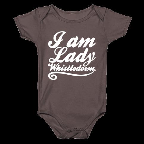 I Am Lady Whistledown Parody White Print Baby One-Piece