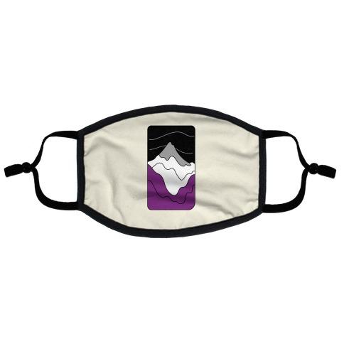 Groovy Pride Flag Landscapes: Ace Flag Flat Face Mask