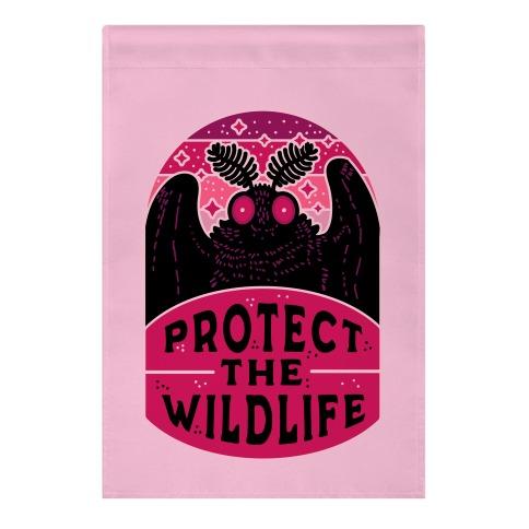 Protect the Wildlife (Mothman) Garden Flag