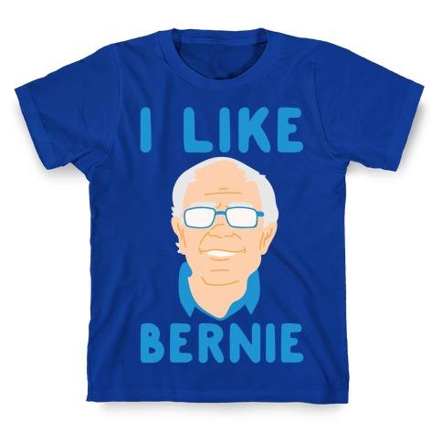 I Like Bernie White Print T-Shirt