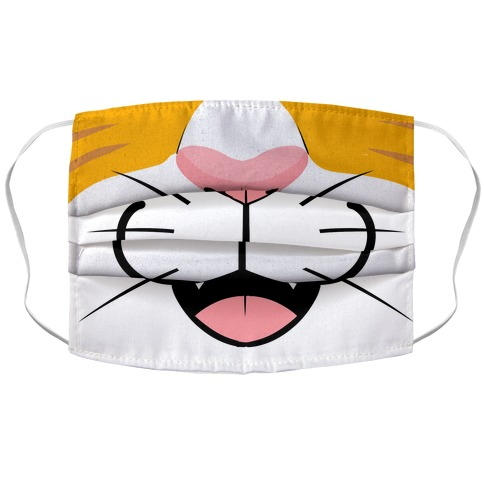 Cat Mouth Accordion Face Mask Lookhuman