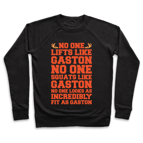 No One Lifts Like Gaston Parody White Print Pullover