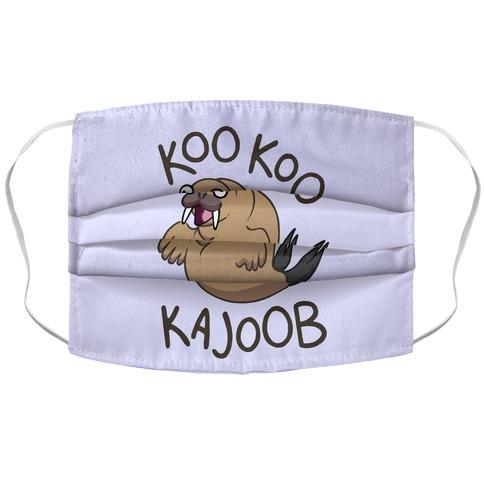 Koo Koo Kajoob Derpy Walrus Accordion Face Mask