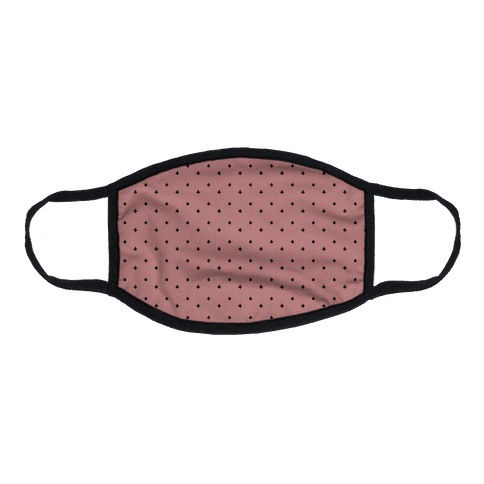 Dainty Stars Pattern Dusty Pink Flat Face Mask