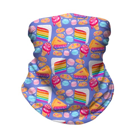LGBTQ Desserts Pattern Neck Gaiter