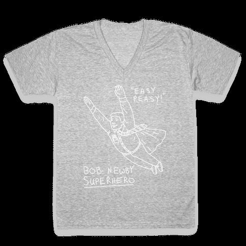 Bob Newby Superhero V-Neck Tee Shirt
