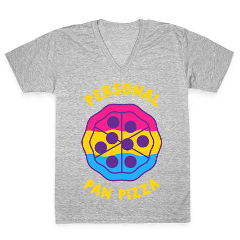 Personal Pan Pizza V-Neck Tee Shirt