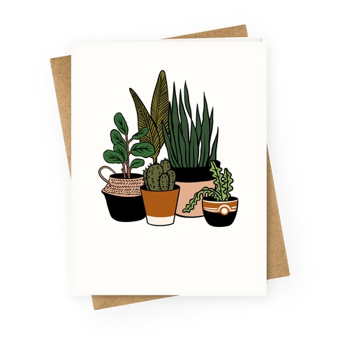 Houseplant Illustration Color Greeting Card