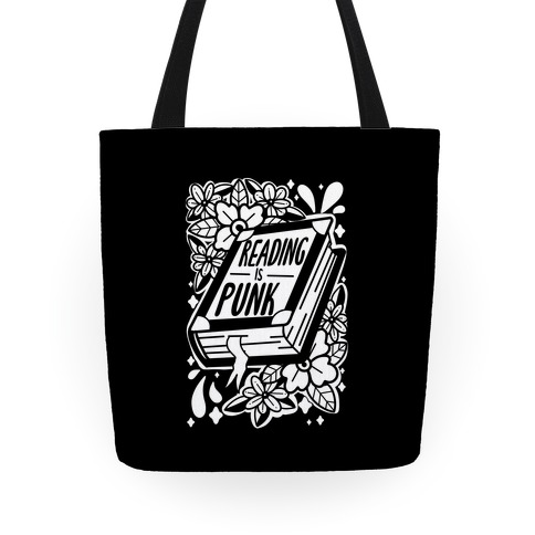 Reading Is Punk Book Tote