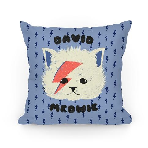 David Meowie Pillow