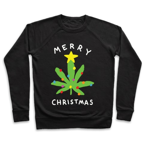 Merry Christmas Pot Leaf Pullover