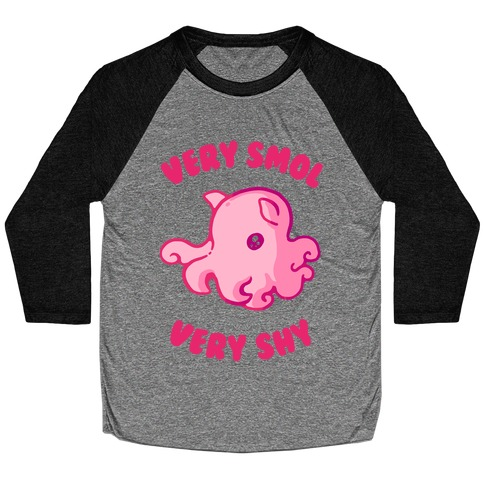 Very Smol Very Shy Dumbo Octopus Baseball Tee