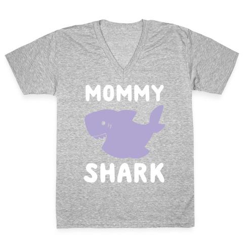 Mommy Shark (1 of 5 set) V-Neck Tee Shirt