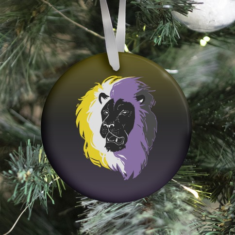 Non-binary Lion Pride Ornament