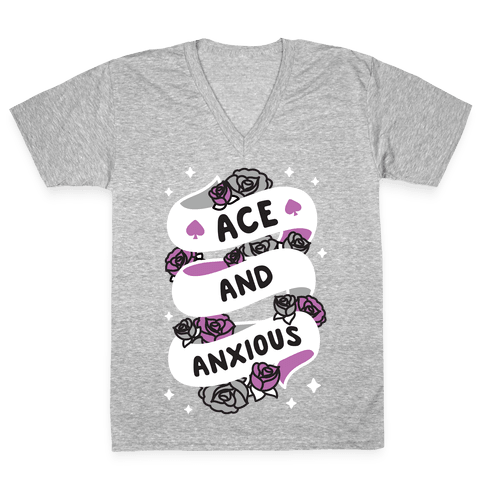 Ace And Anxious V-Neck Tee Shirt