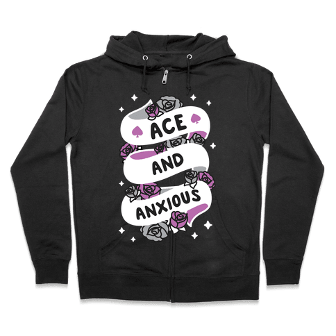 Ace And Anxious Zip Hoodie