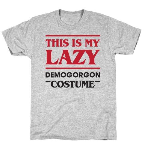 This Is My Lazy Demogorgon Costume T-Shirt