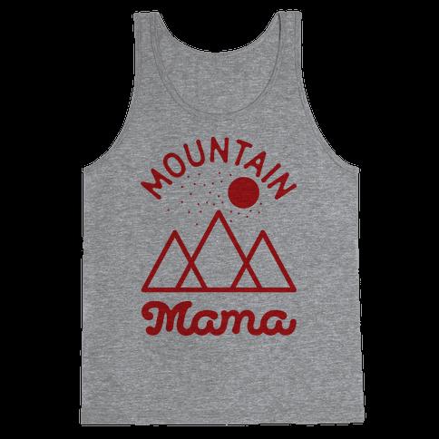 Mountain Mama Red Tank Top