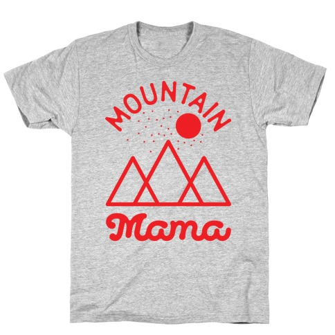 Mountain Mama Red T-Shirt