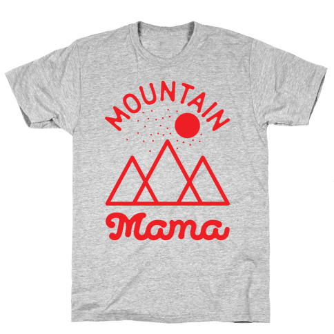 Mountain Mama Red Mens T-Shirt