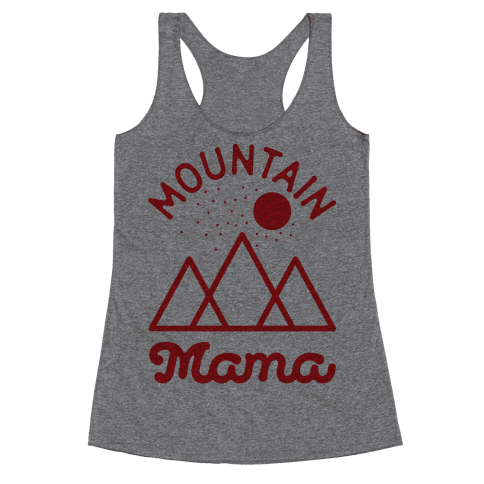 Mountain Mama Red Racerback Tank Top