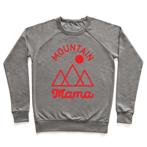Mountain Mama Red Pullover