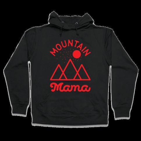 Mountain Mama Red Hooded Sweatshirt