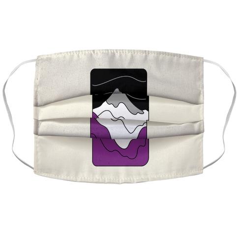 Groovy Pride Flag Landscapes: Ace Flag Accordion Face Mask