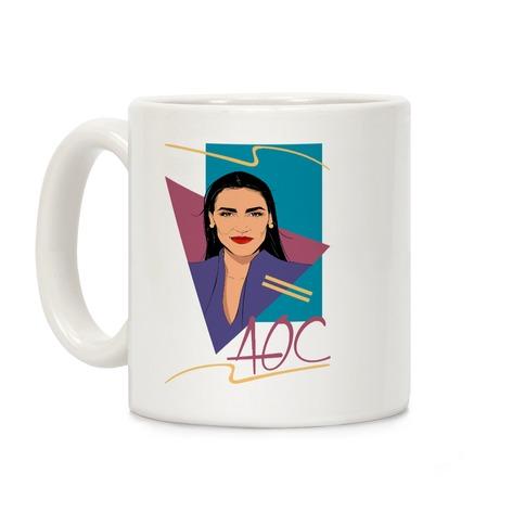 80s Style AOC Alexandria Ocasi-Cortez Parody Coffee Mug