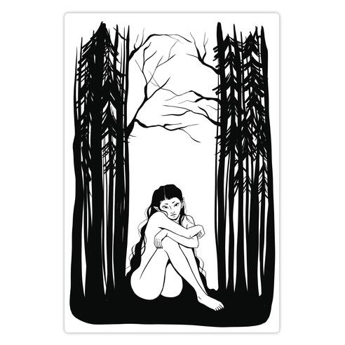 Forest Nymph Die Cut Sticker